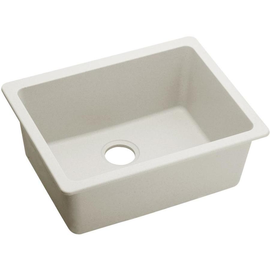 Elkay Gourmet 18.491 x 25.0 Ricotta Single-Basin Undermount None (customizable)-Hole Kitchen Sink