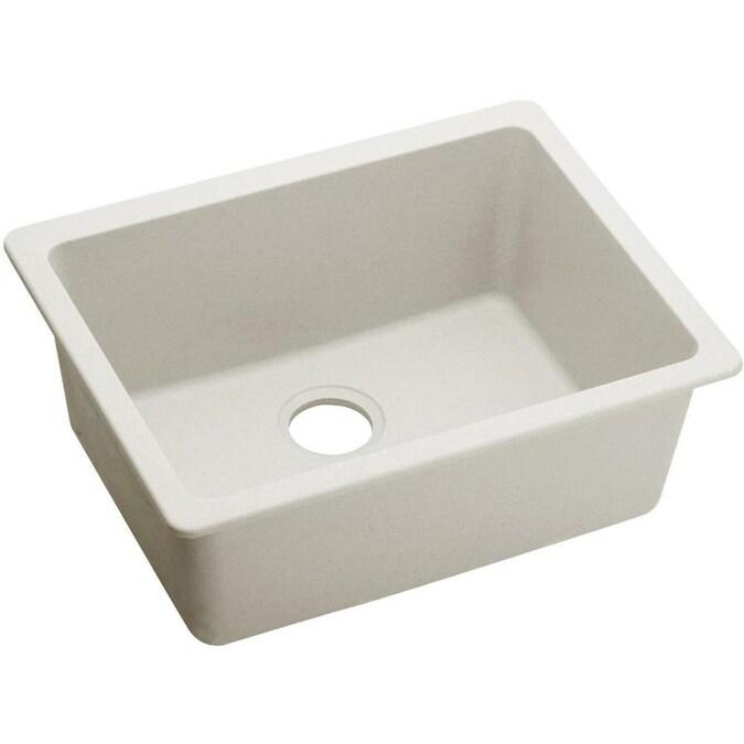 elkay quartz luxe undermount 24 596 in x 18 524 in ricotta single bowl kitchen sink