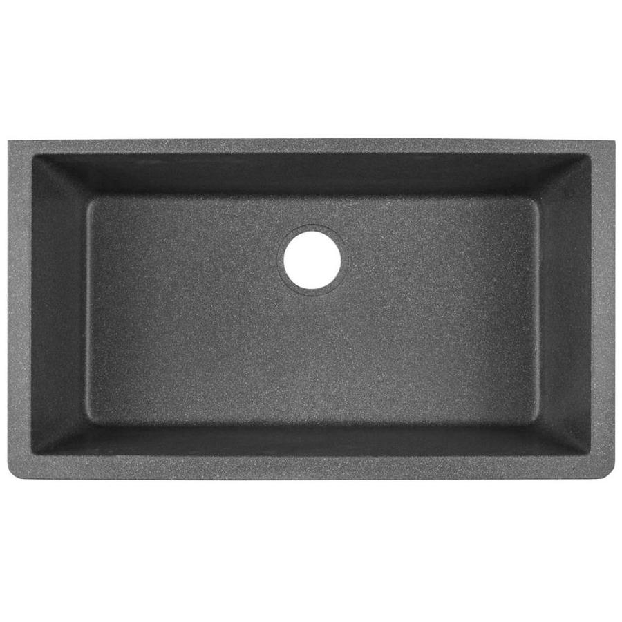Elkay Quartz Clic 33 In X 18 4375 Slate Single Basin Undermount Residential Kitchen Sink