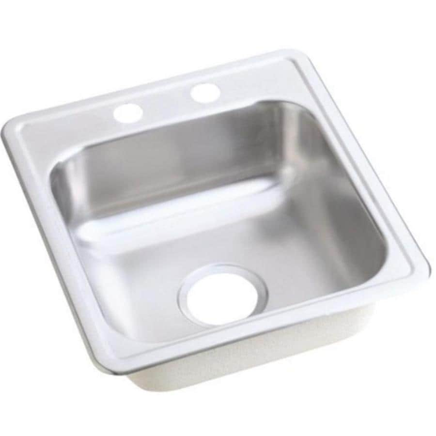 dayton kitchen sinks shop dayton 17 in x 19 in satin single basin stainless 3107