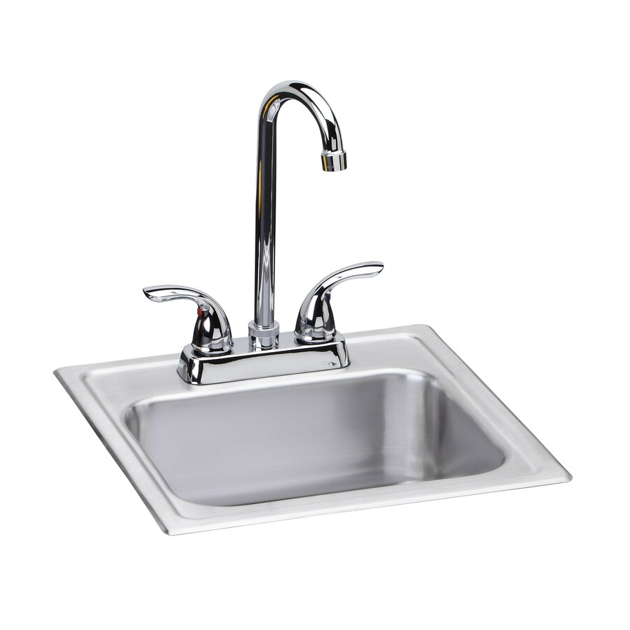 dayton kitchen sinks shop dayton 15 in x 15 in satin single basin stainless 3107