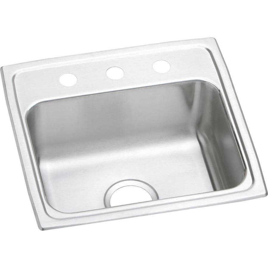 Elkay 18-in x 19-in Stainless Single-Basin Drop-In Kitchen Sink