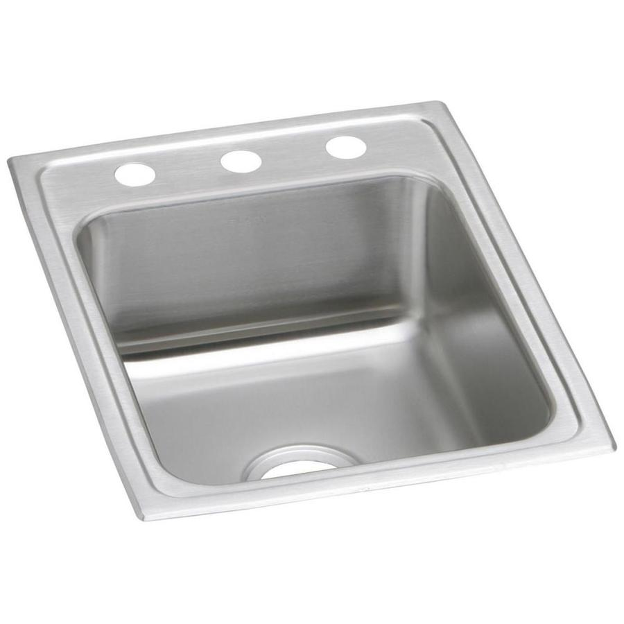 Elkay Gourmet® 22-in x 17-in Stainless Single-Basin Drop-In Kitchen Sink
