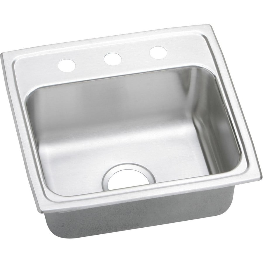 Elkay 19-in x 19.5-in Stainless Single-Basin Drop-In Kitchen Sink