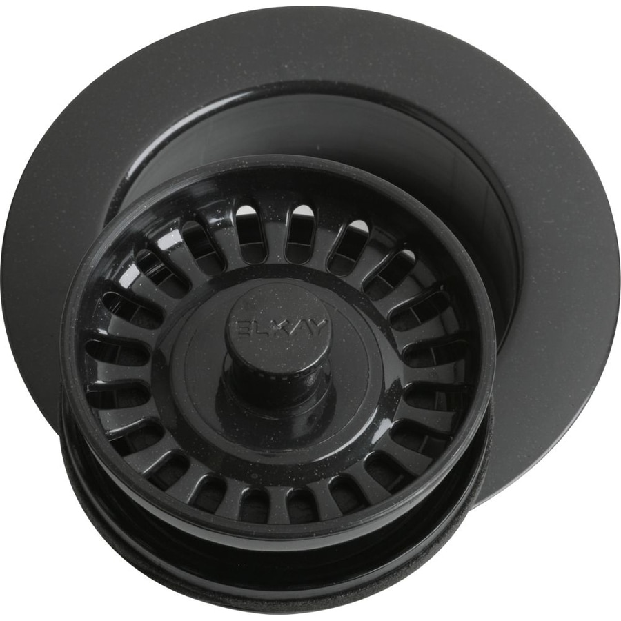 Elkay Everyday 4.5-in Black Plastic Fixed Post Kitchen Sink Strainer