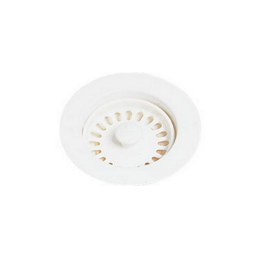 Elkay Everyday 4.5-in Cameo White Plastic Fixed Post Kitchen Sink Strainer