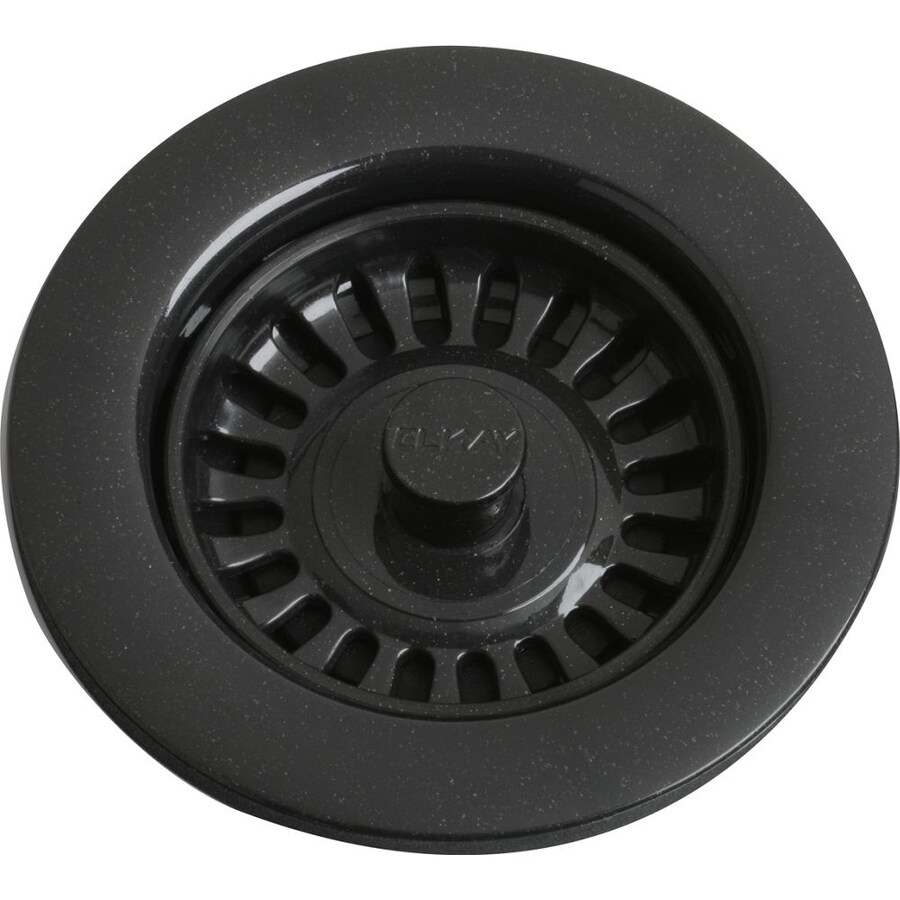Elkay 4.5-in Black Plastic Fixed Post Kitchen Sink Strainer