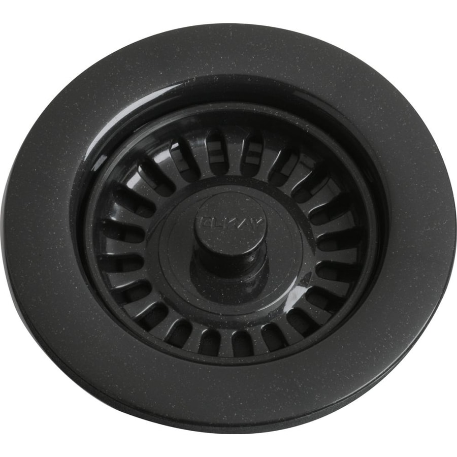 plastic kitchen sink strainer shop elkay 4 5 in black plastic fixed post kitchen sink 4270