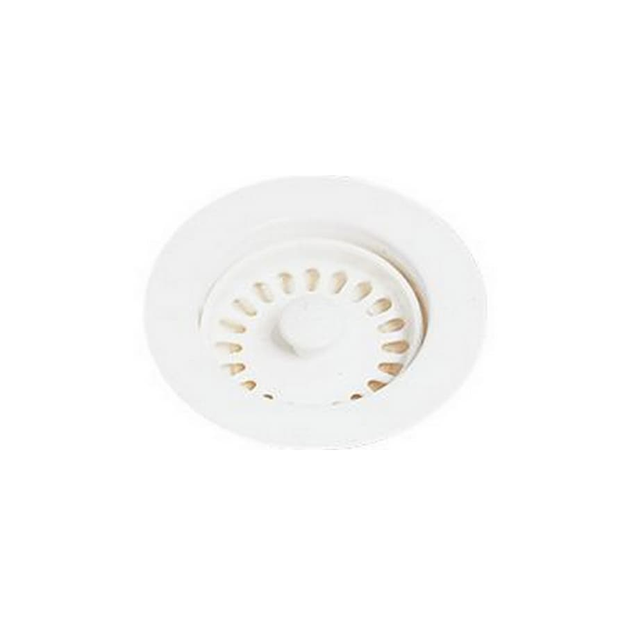 Elkay 4.5-in Cameo White Plastic Fixed Post Kitchen Sink Strainer