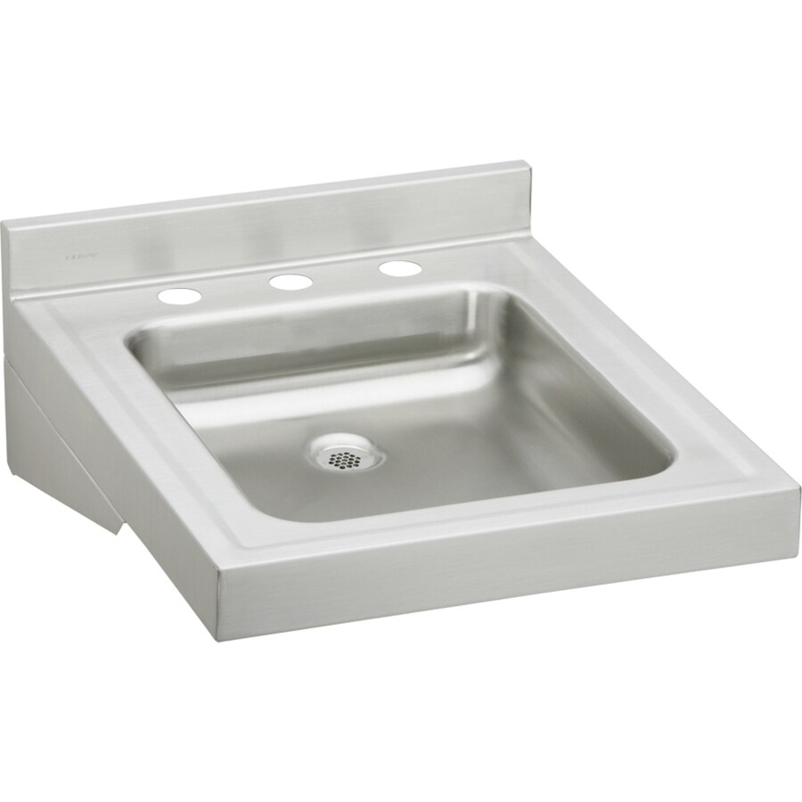 Elkay 19 In X 23 In Buffed Satin Wall Mount Stainless Steel Utility Tub