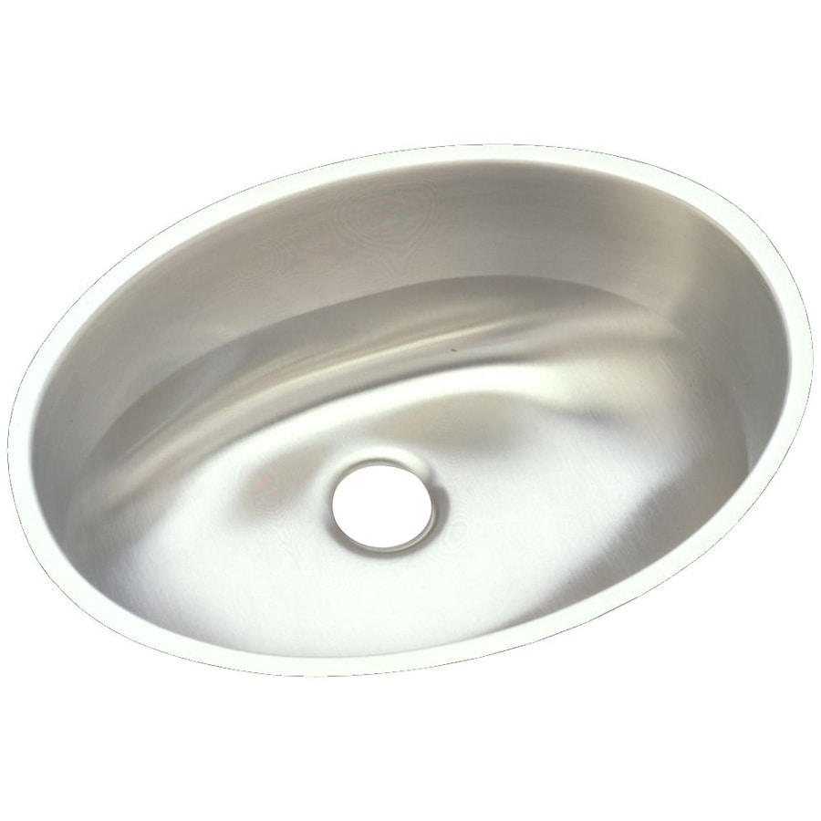 Elkay Asana 14-in x 18-in Lustrous Highlighted Satin Single-Basin Stainless Steel Undermount Commercial Kitchen Sink