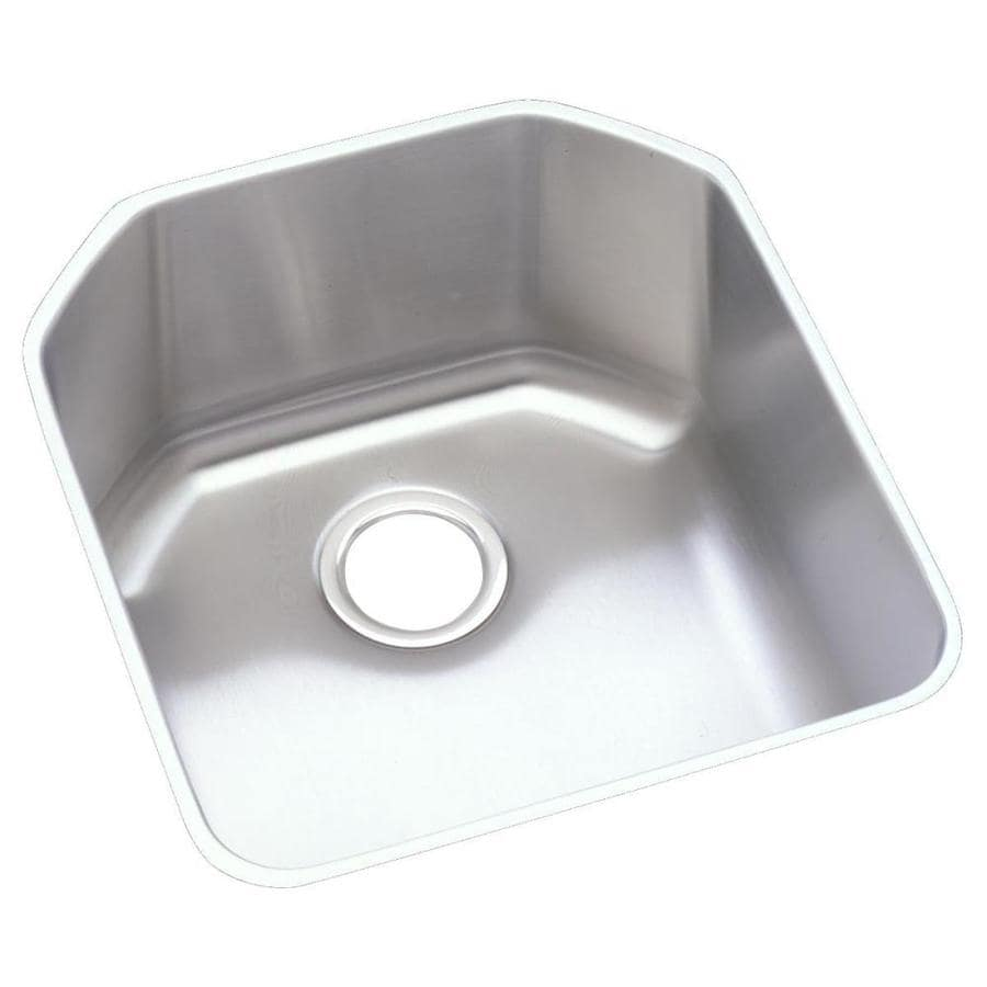 Elkay 18.5-in x 20.5-in Stainless Single-Basin-Basin Stainless Steel-Hole Kitchen Sink