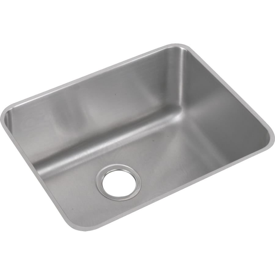 Elkay Gourmet 18.25-in x 23.5-in Lustertone Single-Basin Stainless Steel Undermount Residential Kitchen Sink