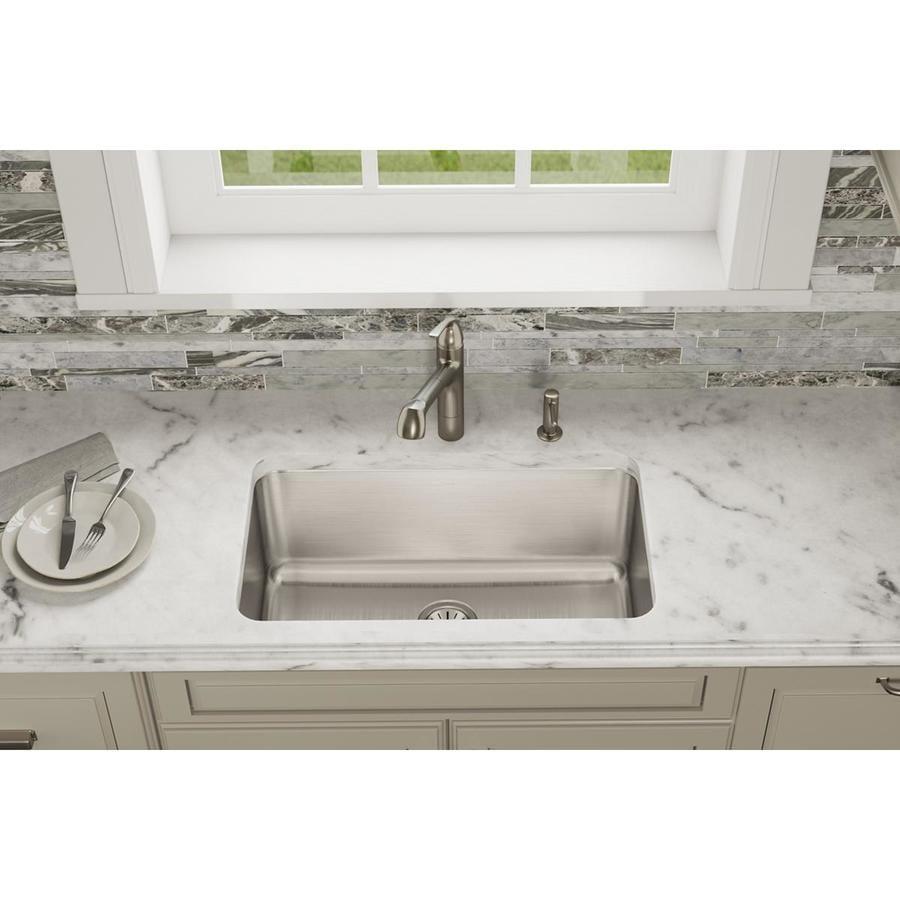 Elkay Gourmet 18.5-in x 30.5-in Lustertone Single-Basin Stainless Steel Undermount Residential Kitchen Sink