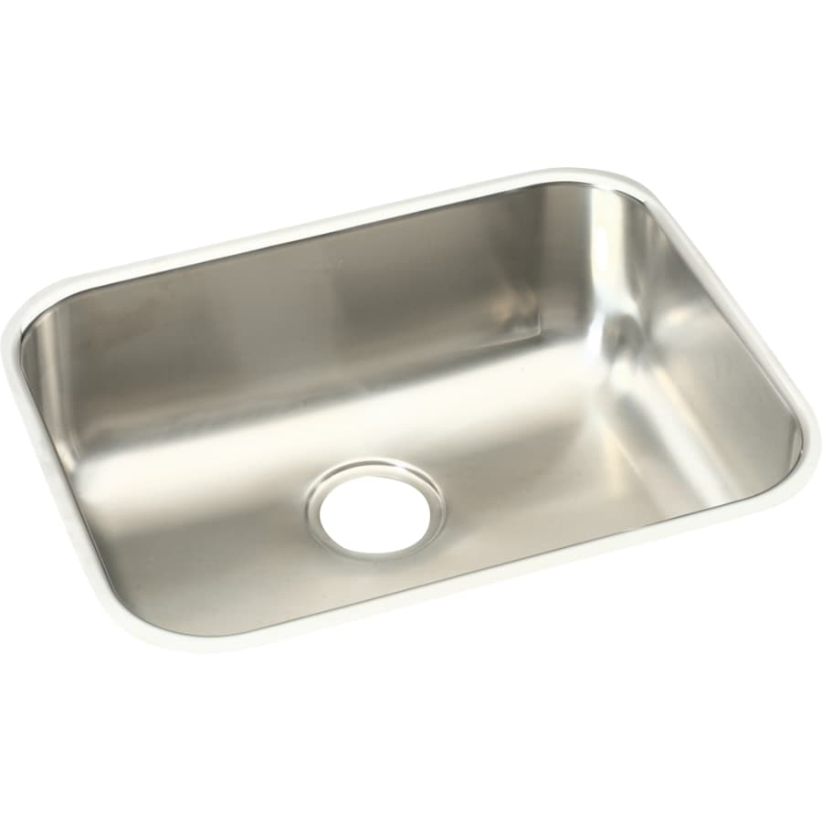 Elkay Harmony 18.25-in x 23.5-in Soft Highlighted Satin Single-Basin Stainless Steel Undermount Residential Kitchen Sink