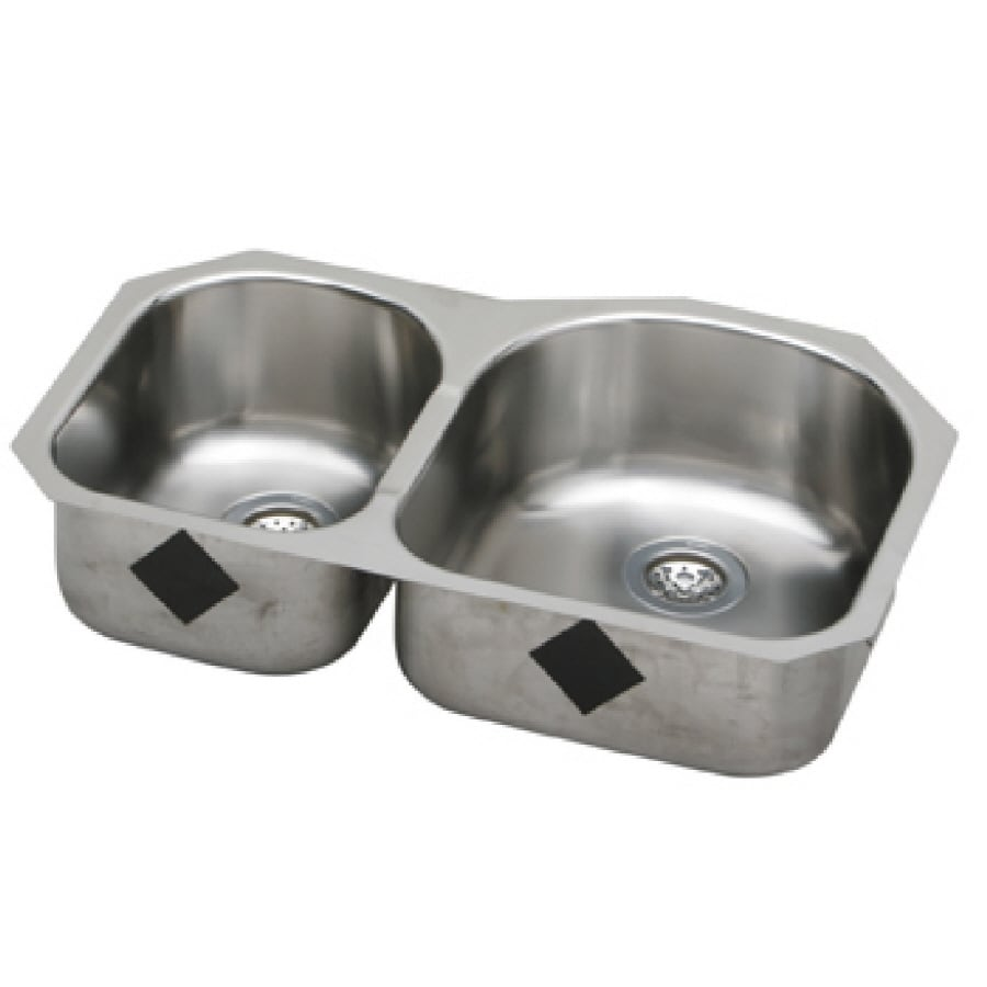 Elkay Harmony 20-in x 31.25-in Elumina 2 Stainless Steel Undermount (Customizable)-Hole Residential Kitchen Sink