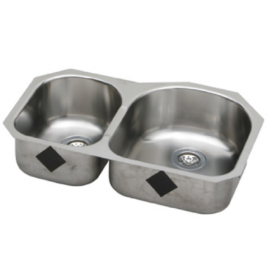 Elkay Harmony 20-in x 31.25-in Elumina Double-Basin Undermount Residential Kitchen Sink