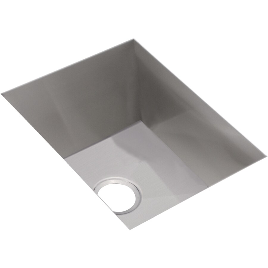 Elkay Avado 20.5-in x 16.5-in Polished Satin Single-Basin Stainless Steel Undermount Residential Kitchen Sink