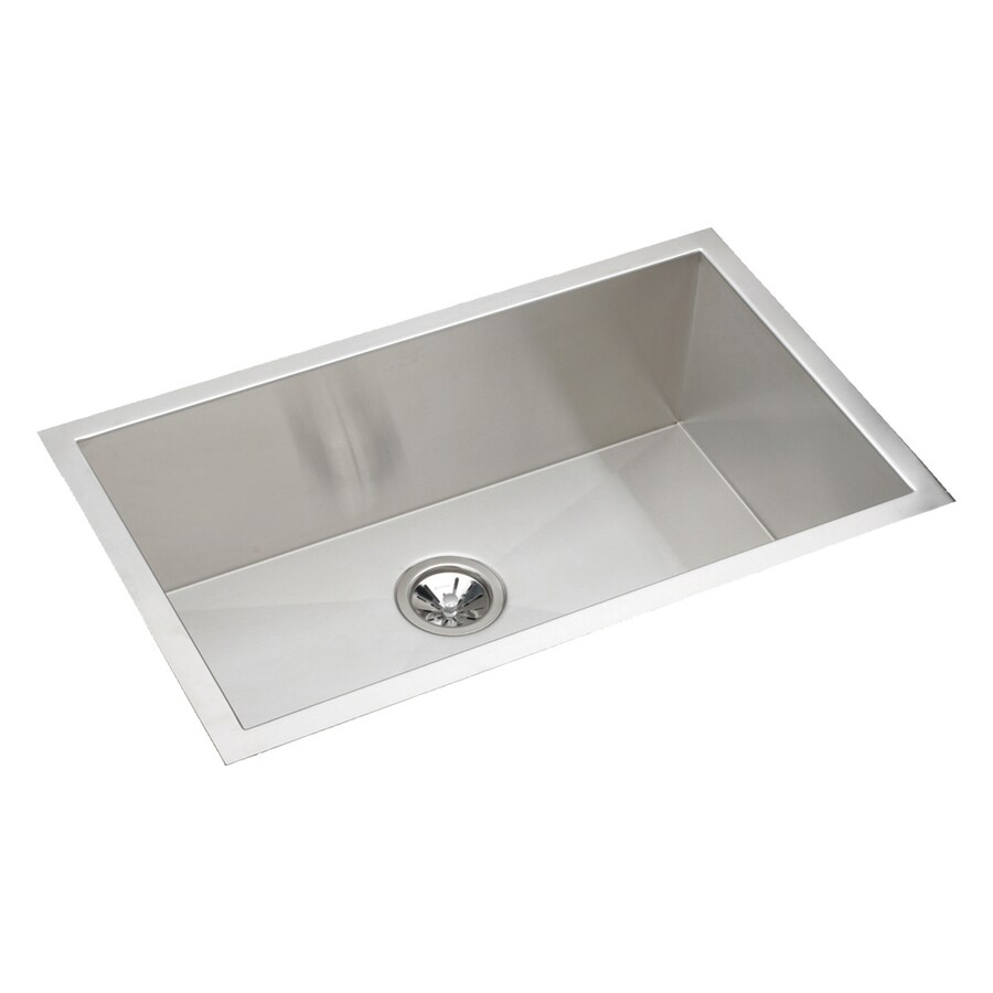 Elkay Avado 18.5-in x 30.5-in Stainless Steel 1 Stainless Steel Undermount (Customizable)-Hole Residential Kitchen Sink
