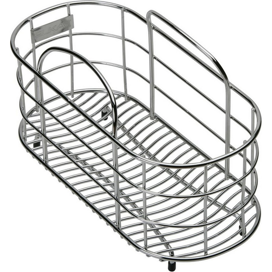 Elkay 5.5-in W x 12-in L x 8-in H Metal Dish Rack and Drip Tray