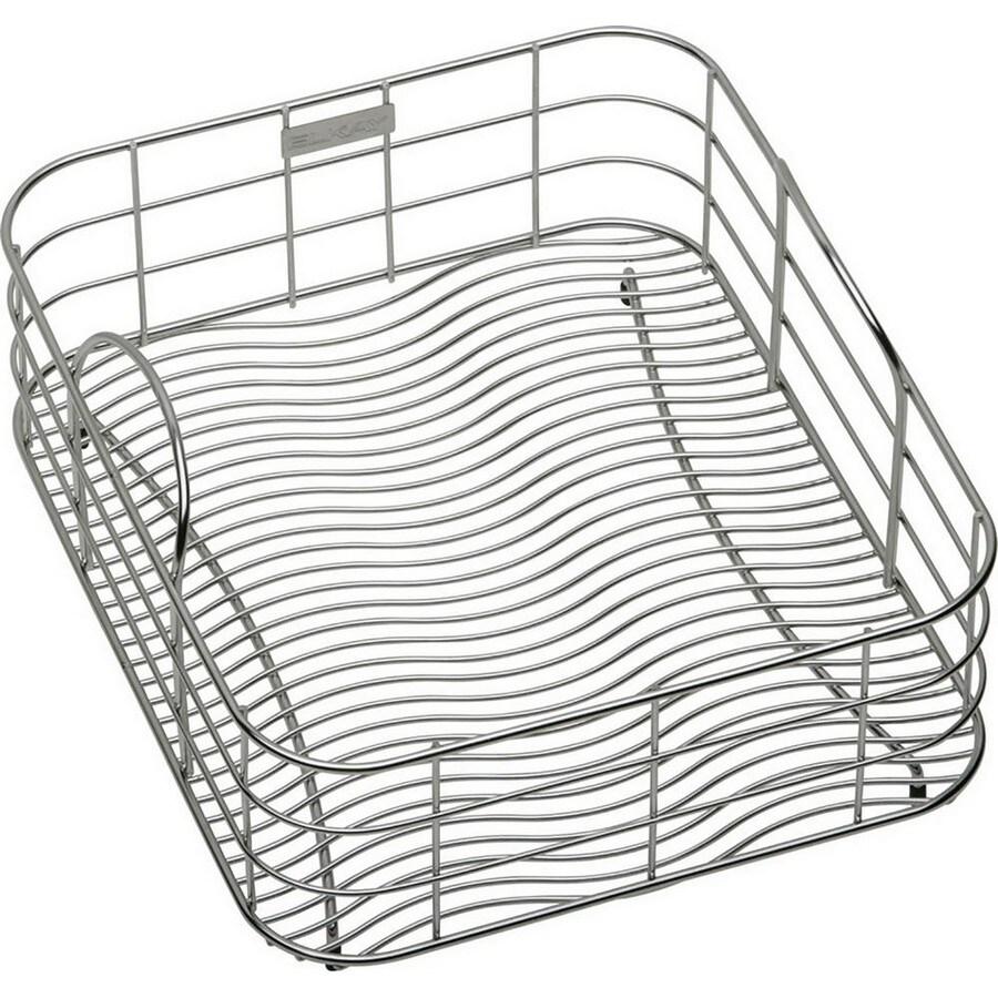Elkay 26.5-in W x 14.825-in L x 8-in H Metal Dish Rack and Drip Tray
