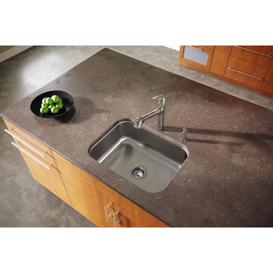 Elkay Dayton 18.25-in x 23.5-in Radiant Satin 1 Stainless Steel Undermount (Customizable)-Hole Residential Kitchen Sink
