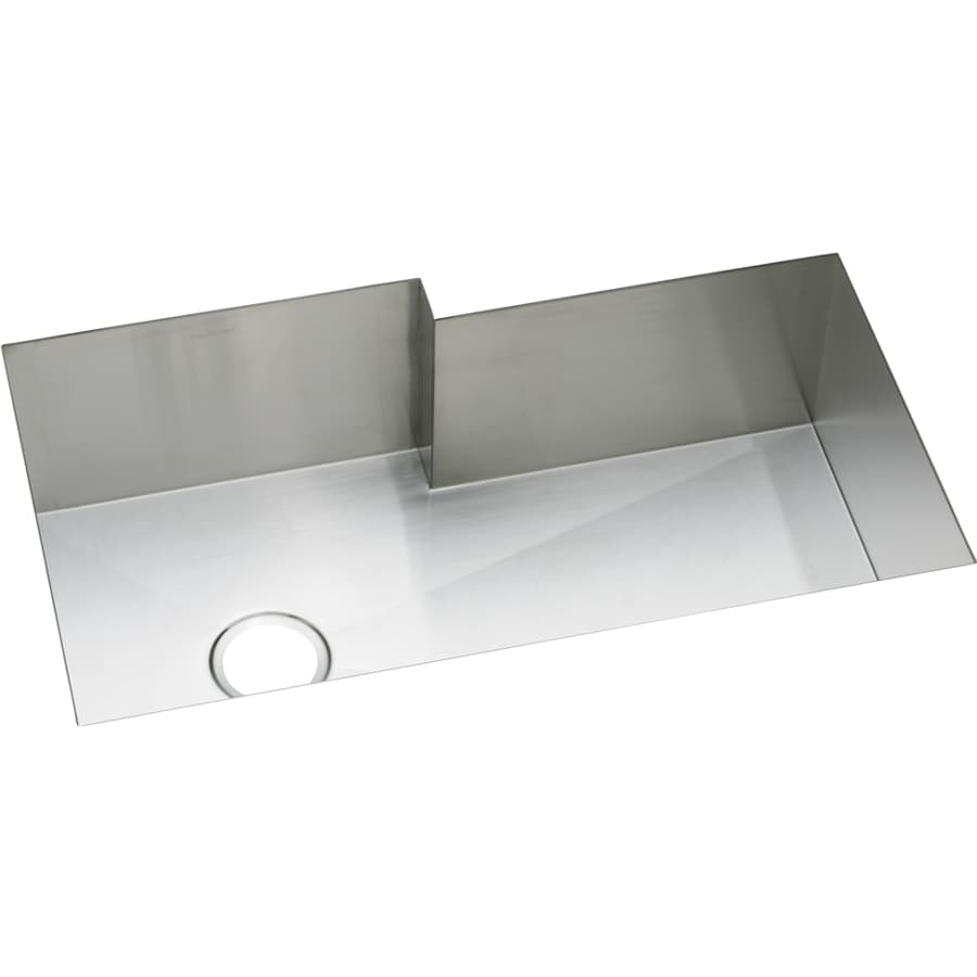 Elkay Avado 20.5-in x 34.5-in Polished Satin Single-Basin-Basin Stainless Steel Undermount (Customizable)-Hole Residential Kitchen Sink