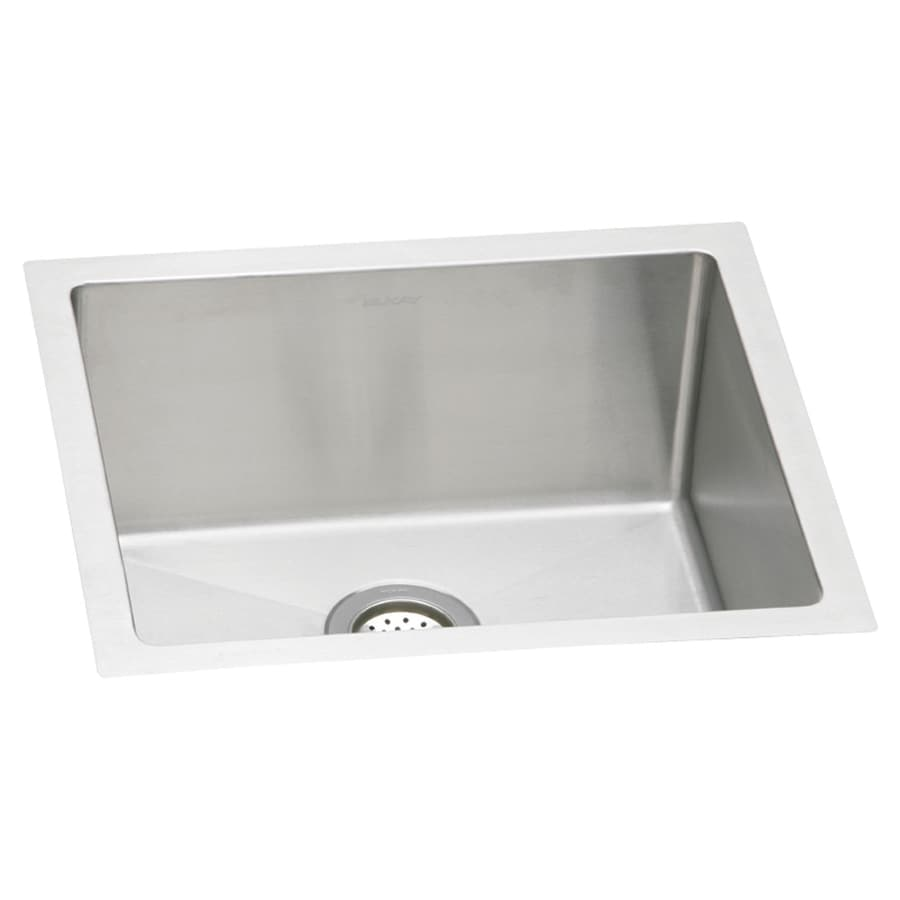 Elkay Avado 18.5-in x 21.5-in Polished Satin Single-Basin-Basin Stainless Steel Undermount (Customizable)-Hole Residential Kitchen Sink