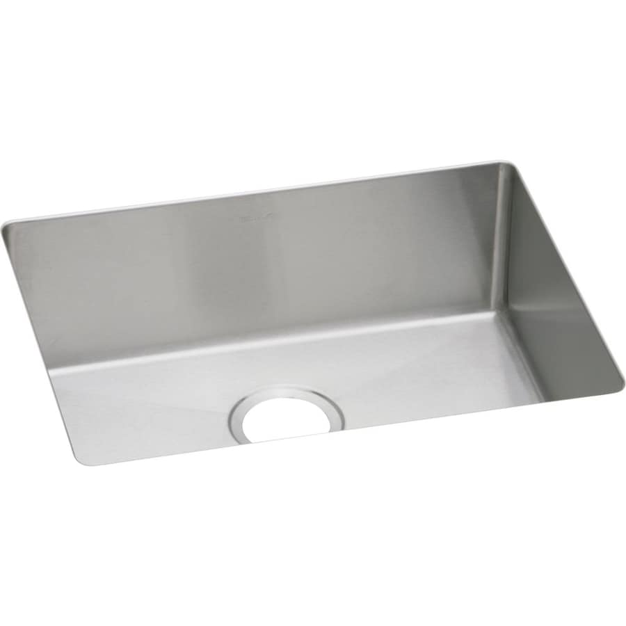 Elkay Avado 18.25-in x 23.5-in Polished Satin Single-Basin Stainless Steel Undermount Residential Kitchen Sink