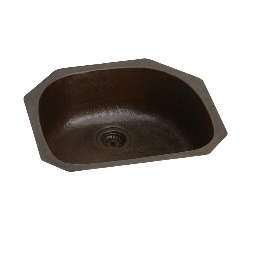 Elkay Harmony x Antique Hammered Copper Undermount Kitchen Sink
