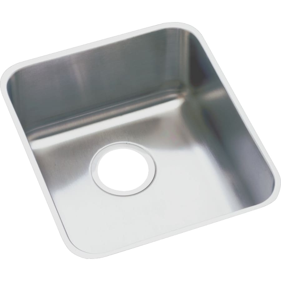 Elkay Gourmet 18.5-in x 18.5-in Lustertone Single-Basin-Basin Stainless Steel Undermount (Customizable)-Hole Commercial/Residential Kitchen Sink