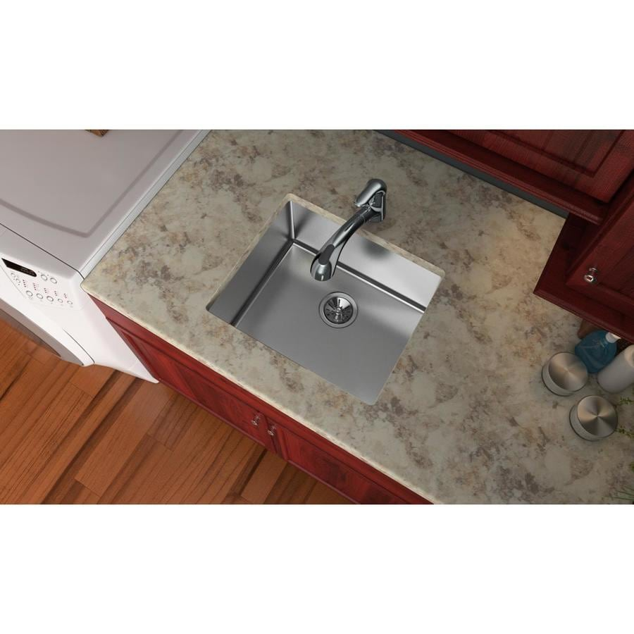 Elkay Pursuit 18.5-in x 21.5-in Stainless Steel Single-Basin Stainless Steel Undermount Residential Kitchen Sink