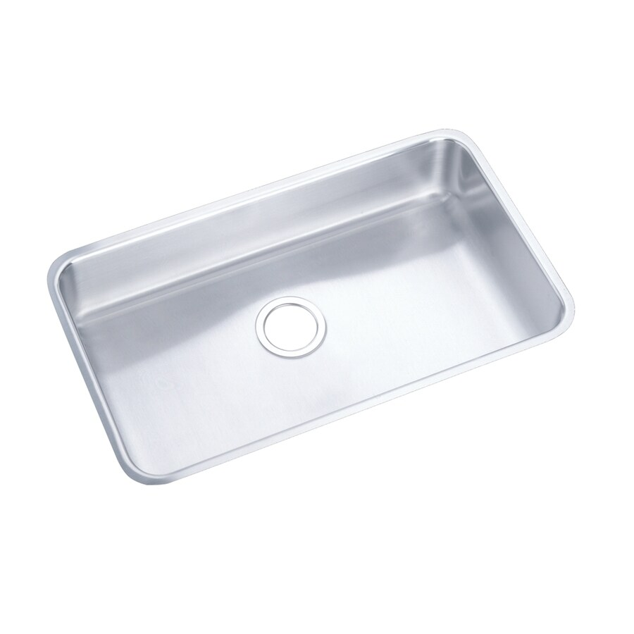 Elkay Pursuit 18.5-in x 30.5-in Stainless Steel 1 Stainless Steel Undermount (Customizable)-Hole Residential Kitchen Sink