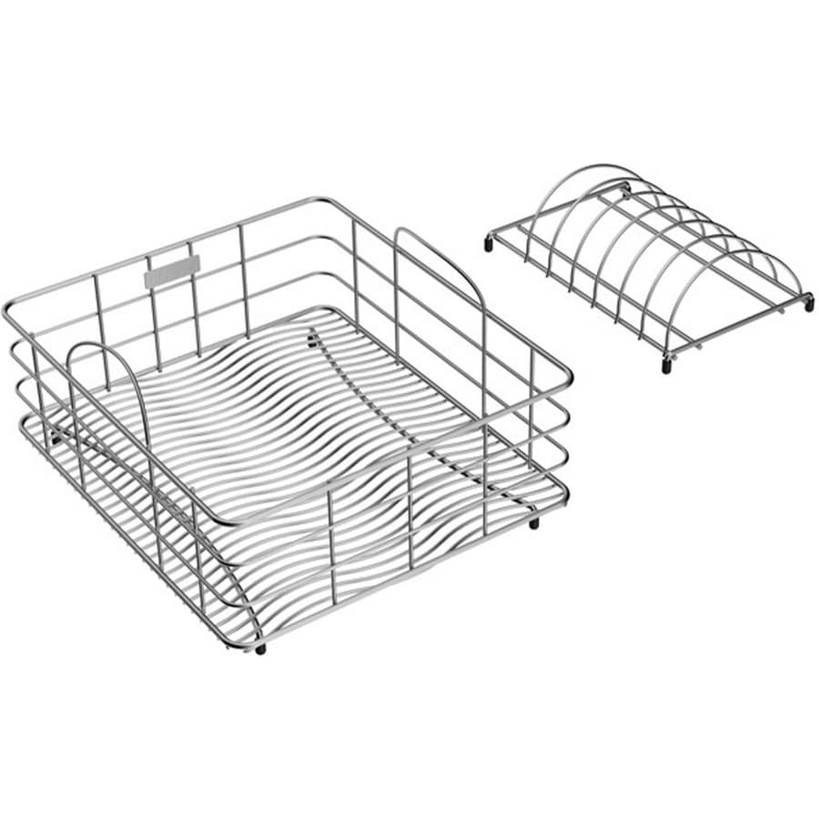 Elkay 11.825-in W x 13.8-in L x 6.26-in H Metal Dish Rack and Drip Tray