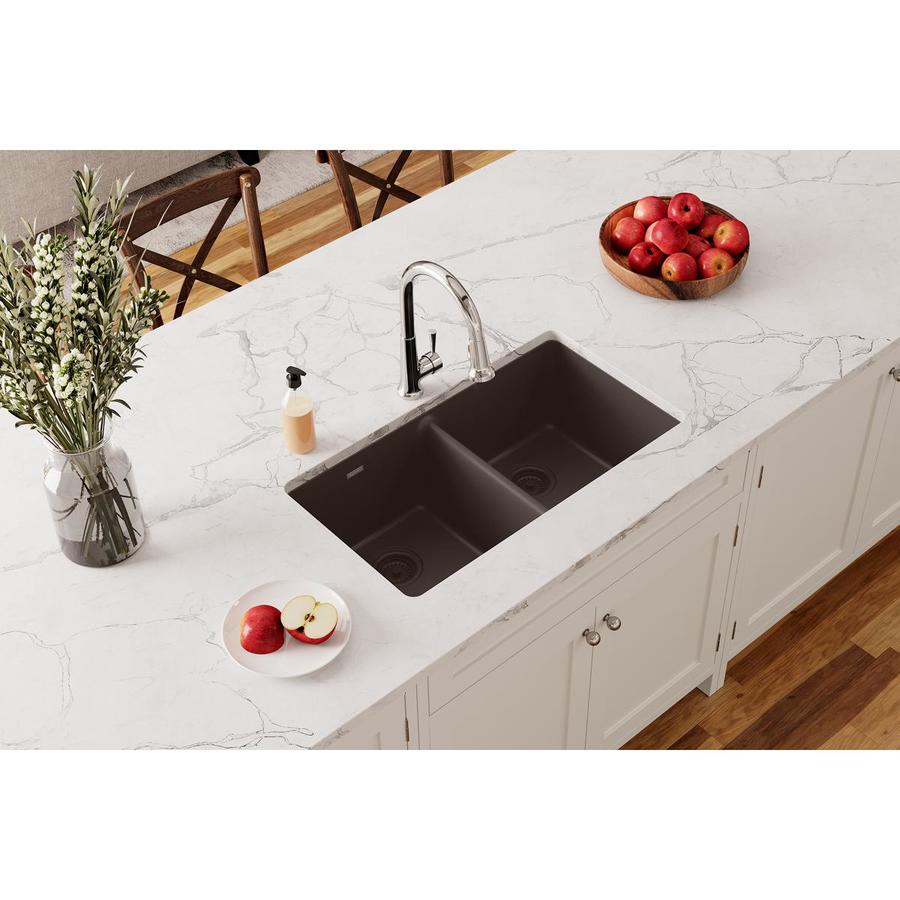 ... Double-Basin Quartz Undermount Residential Kitchen Sink at Lowes.com