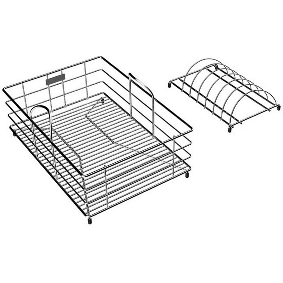 Elkay 15-in W x 10.5-in L x 7.78-in H Metal Dish Rack and Drip Tray