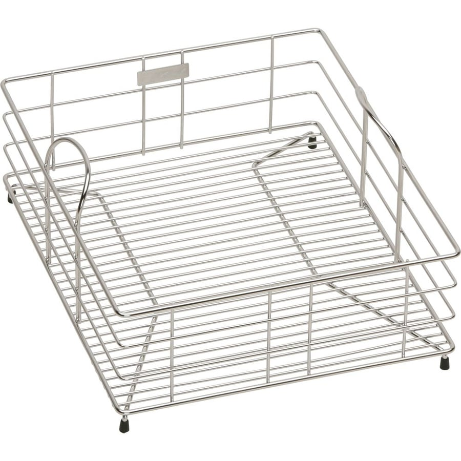 Elkay 15-in W x 12.5-in L x 7.78-in H Metal Dish Rack and Drip Tray