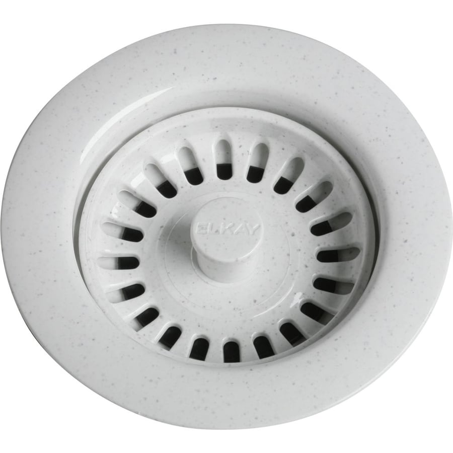 Elkay 4.5-in White Plastic Fixed Post Kitchen Sink Strainer