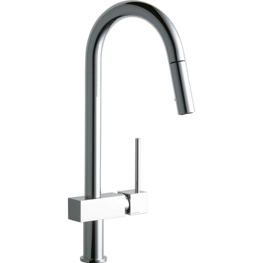 Shop Elkay Avado Chrome 1-Handle Deck Mount Pull-down Kitchen Faucet ...