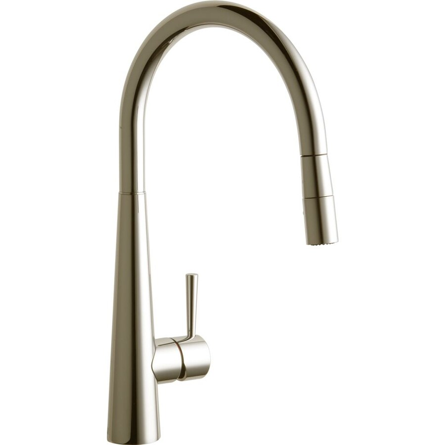 shop elkay harmony brushed nickel pull down kitchen faucet delta brushed nickel pull down faucet pull down brushed