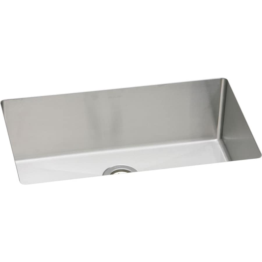 Elkay Avado 12.81-in x 30.5-in Polished Satin Single-Basin Stainless Steel Undermount Residential Kitchen Sink