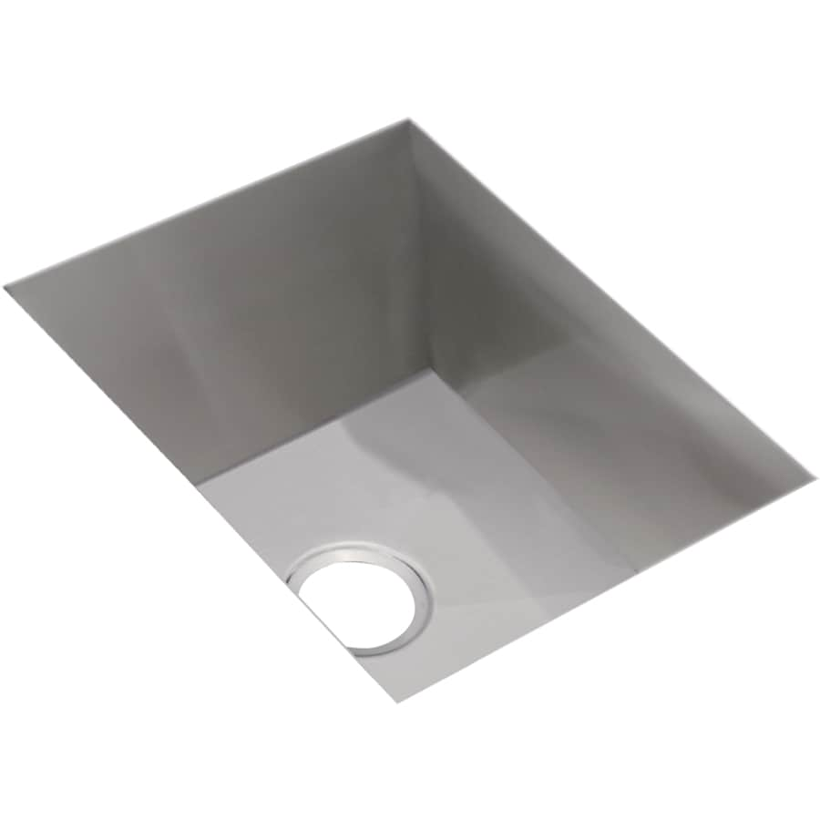 Elkay Avado 20.5-in x 16.5-in Polished Satin Single-Basin Undermount Residential Kitchen Sink