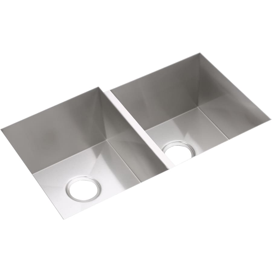 Elkay Avado 20.5-in x 31.25-in Polished Satin Double-Basin Undermount Residential Kitchen Sink