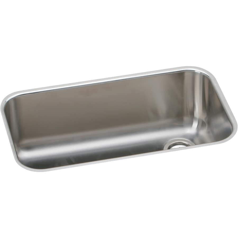Elkay Gourmet 18.25-in x 30.5-in Single-Basin Stainless Steel Undermount Residential Kitchen Sink