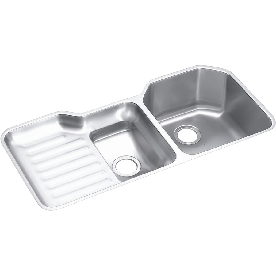 Shop Elkay Harmony 20.5-in x 41.5-in Double-Basin Stainless Steel ...