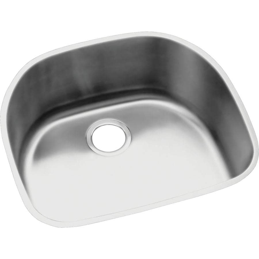 Elkay Harmony 21.19-in x 23.56-in Stainless Steel Single-Basin-Basin Stainless Steel Undermount (Customizable)-Hole Residential Kitchen Sink