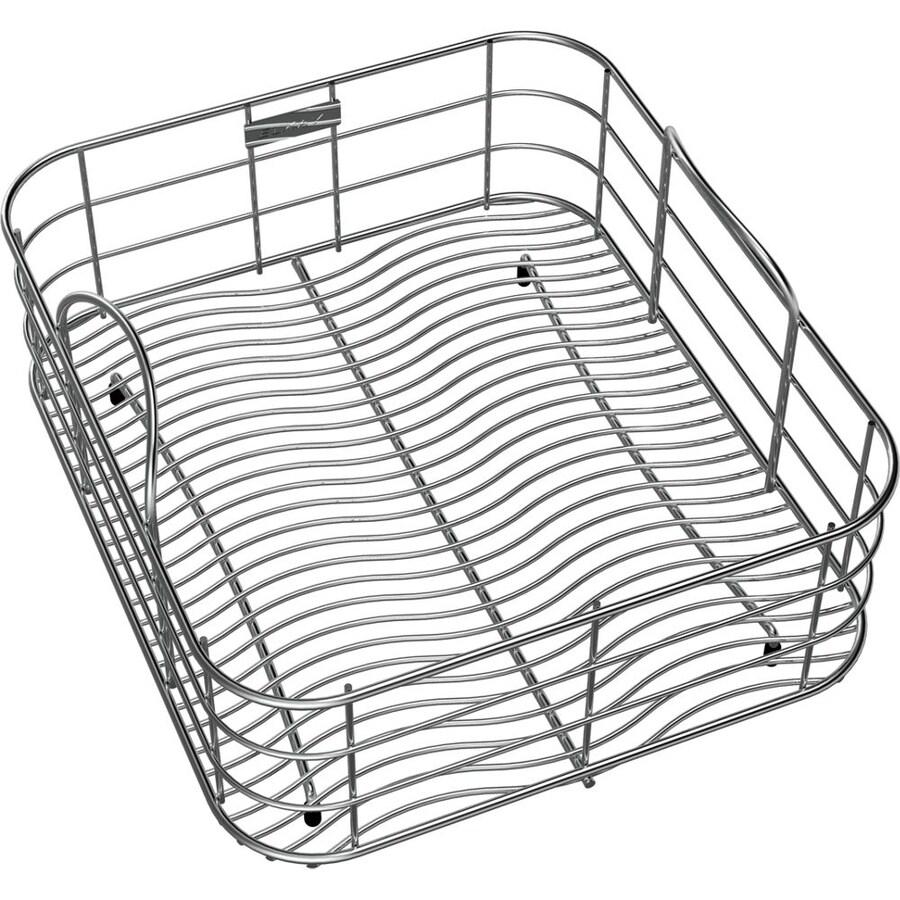 Elkay 12.5-in W x 14.325-in L x 7-in H Metal Dish Rack and Drip Tray