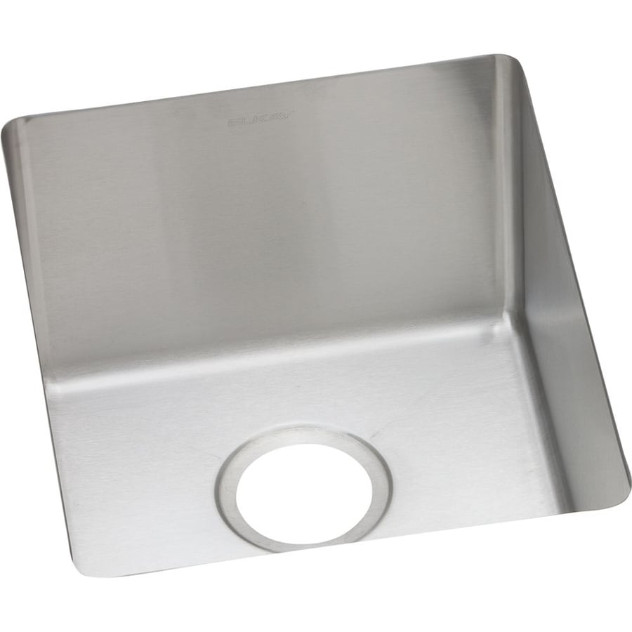 Elkay Avado 18.5-in x 16-in Polished Satin Single-Basin Stainless Steel Undermount Residential Kitchen Sink