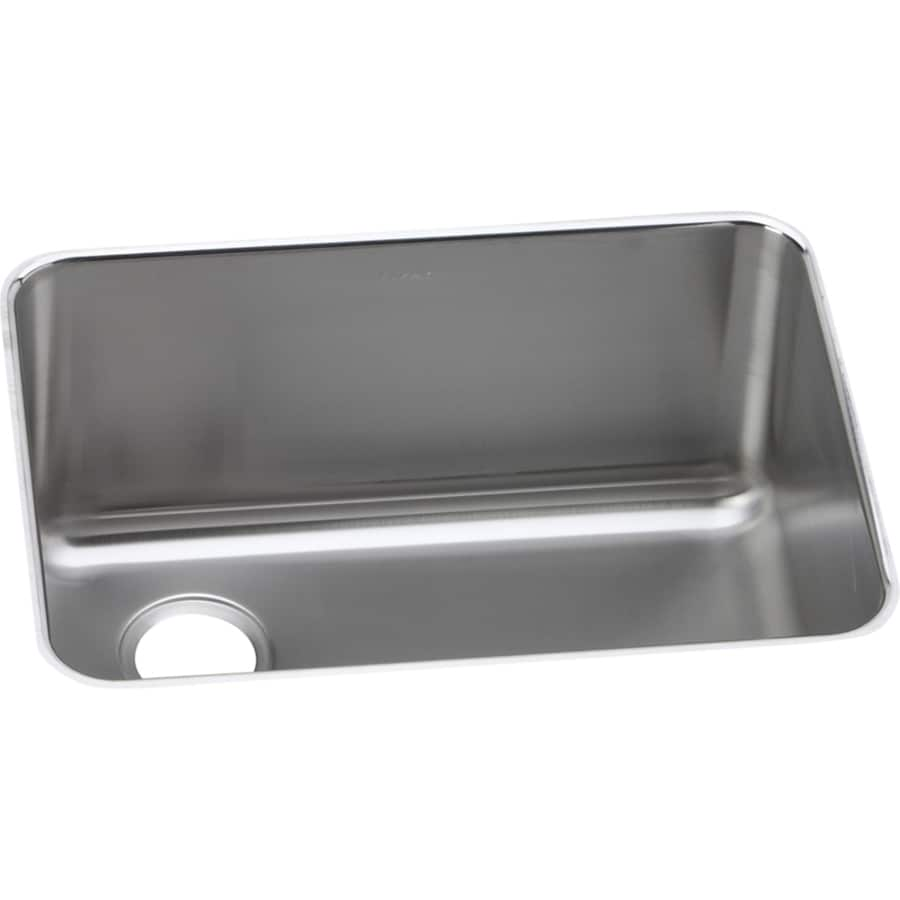 25 stainless steel kitchen sink shop elkay gourmet 25 5 in x 19 25 in stainless steel 7308
