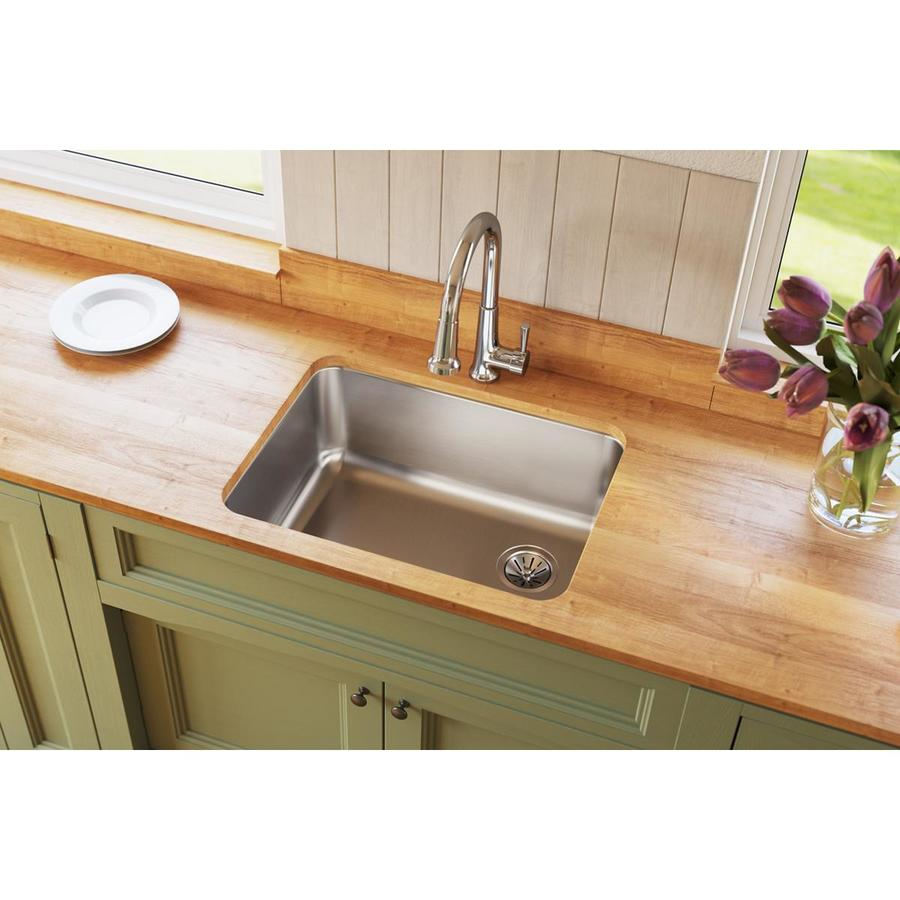 Elkay Gourmet 18.75-in x 25-in Single-Basin Stainless Steel Undermount Residential Kitchen Sink